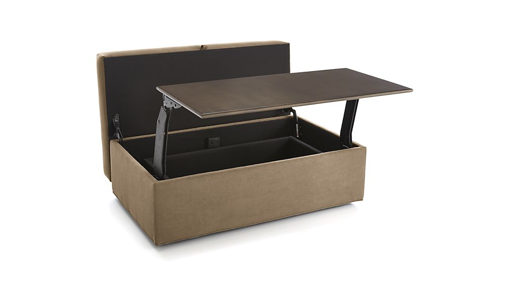 Axis II Storage Ottoman with Tray and Casters