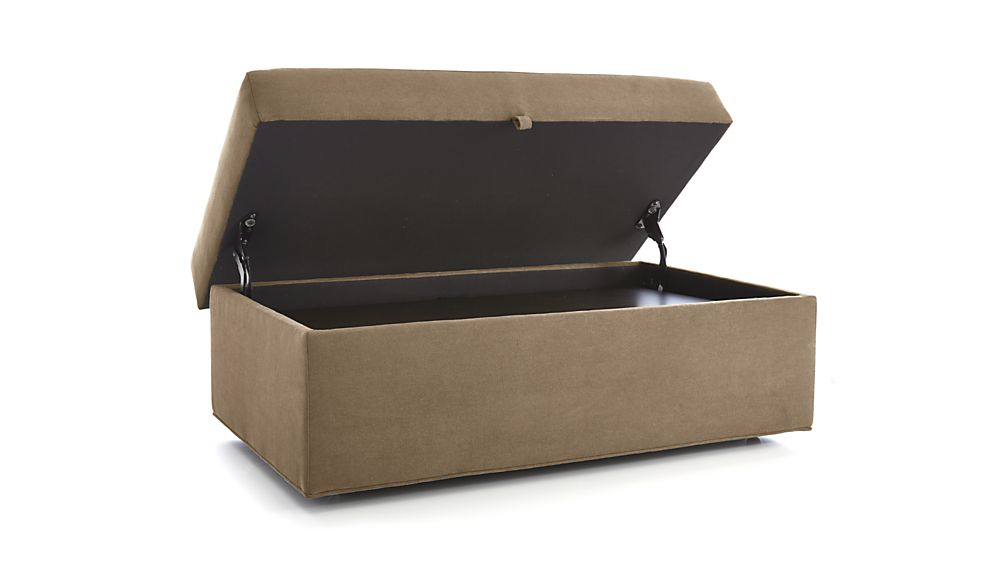 Axis Ii Storage Ottoman With Tray And Casters Crate And