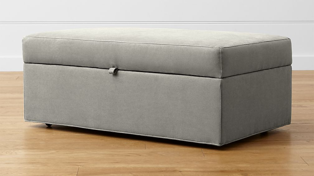 Axis II Storage Ottoman with Tray and Casters - Image 1 of 7