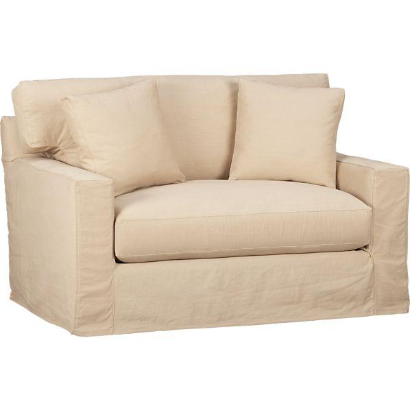 Axis Slipcovered Twin Sleeper Sofa