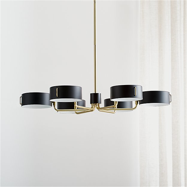 Axle brass black shade chandelier reviews crate and barrel aloadofball Gallery