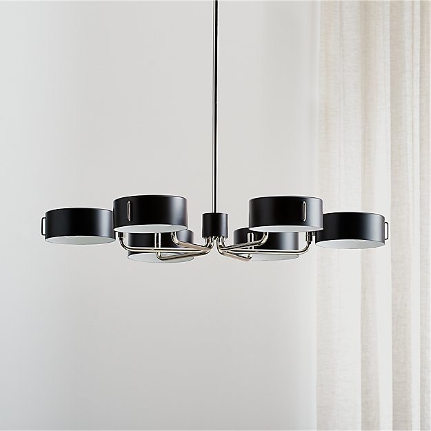 Axle nickel black shade chandelier reviews crate and barrel mozeypictures Gallery
