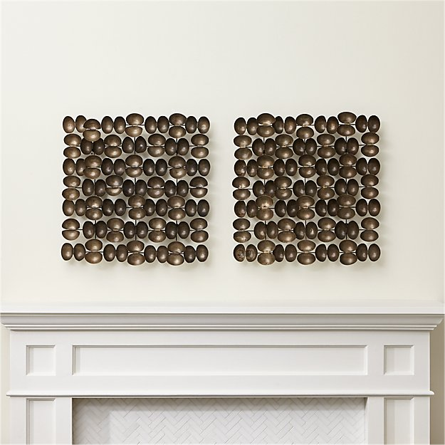 Axton Bronze Wall Art Set Of 2 Reviews Crate And Barrel