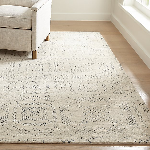 Azulejo Neutral Moroccan Style Rug Crate And Barrel