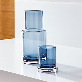 Azure Glass Carafe