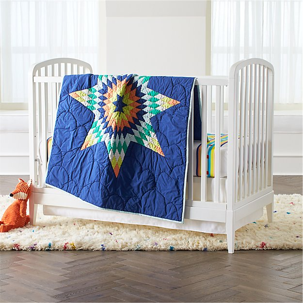 hei wid blue and navy carousel reviews furn crate barrel zoom web crib cribs hero