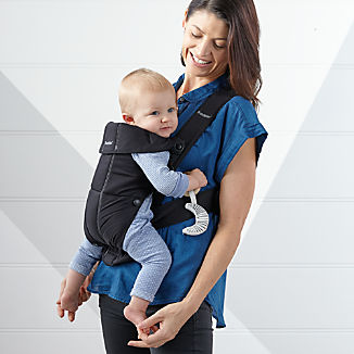 BABYBJÖRN Black Cotton Baby Carrier Mini