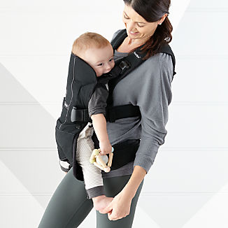 BABYBJÖRN Black Cotton Baby Carrier One
