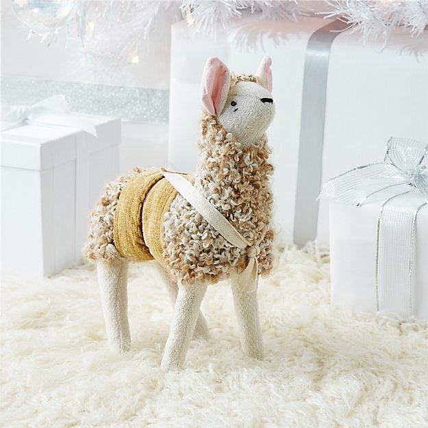 Baby Plush Alpaca Stuffed Animal Reviews Crate And Barrel