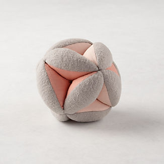 Pink Baby Plush Ball Rattle