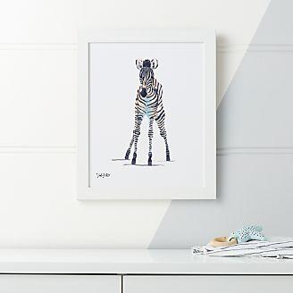 Baby Zebra Framed Wall Art Kids