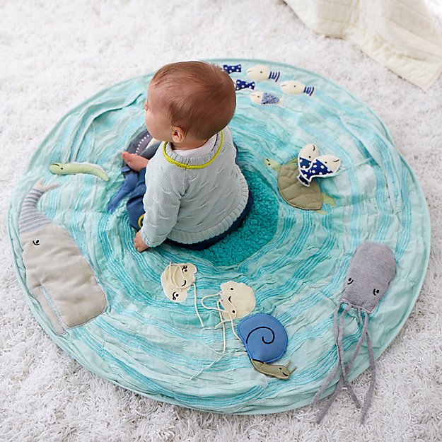 Игровой коврик Be on the Sea Activity Floor Mat от Crate&Kids
