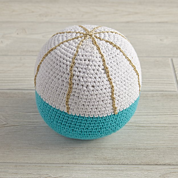 Eye Catching Knit Ball Blue Reviews Crate And Barrel
