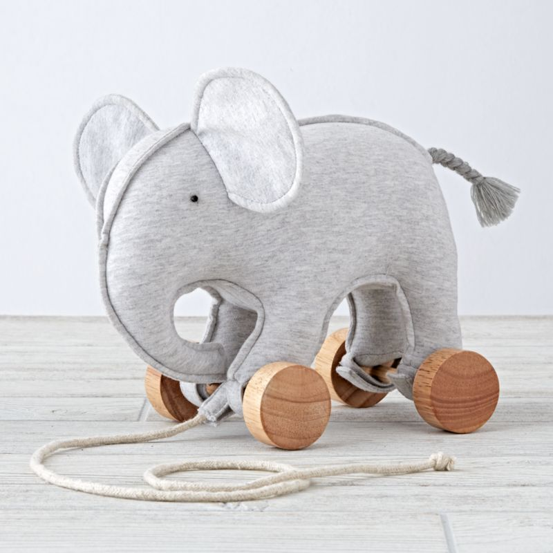 Elephant Zoo Crew Pull Toy Reviews Crate And Barrel