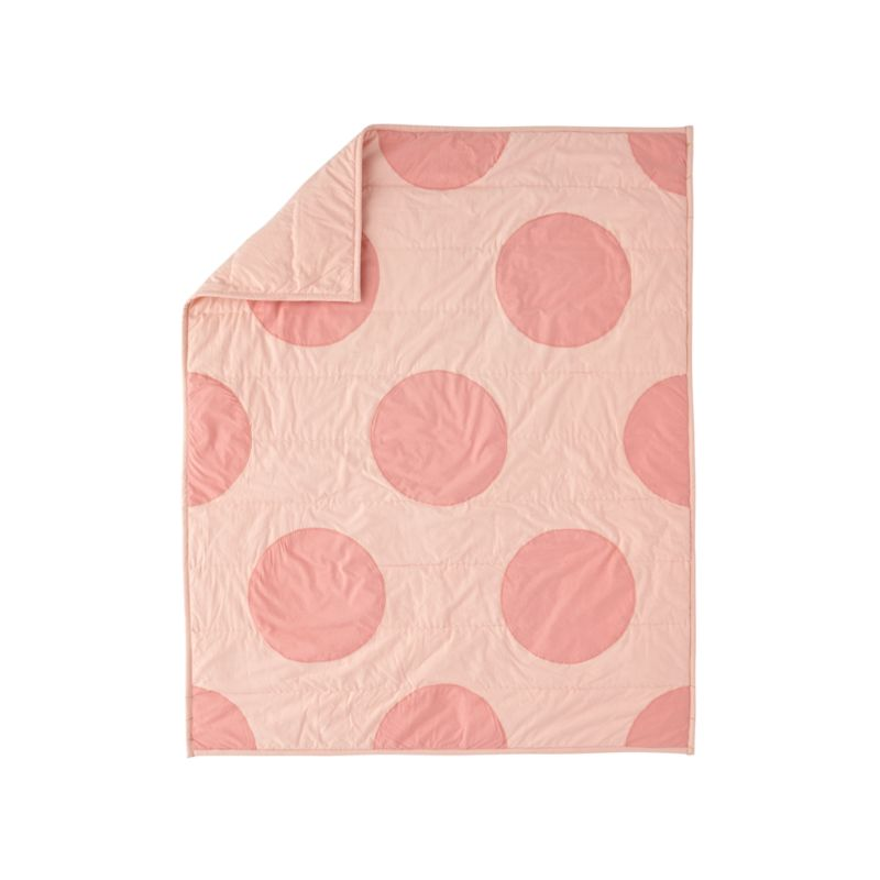 Pink Polka Dot Quilt Reviews Crate And Barrel