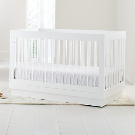 Excellent Babyletto Harlow Acrylic And White 3 In 1 Convertible Crib Crate And Barrel Unemploymentrelief Wooden Chair Designs For Living Room Unemploymentrelieforg