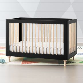 Babyletto Lolly Black And Natural 3 In 1 Convertible Crib