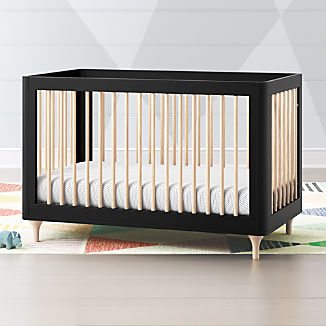 90f204f4eb2 Babyletto Lolly Black and Natural 3 in 1 Convertible Crib