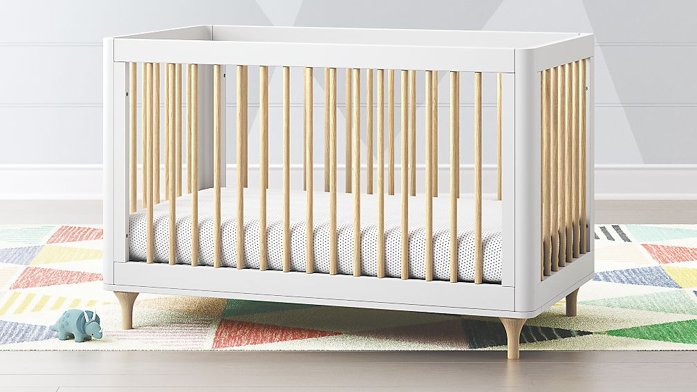 Babyletto Lolly White Amp Natural 3 In 1 Convertible Crib