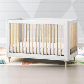 33b309ed8874 Babyletto Lolly White   Natural 3 in 1 Convertible Crib