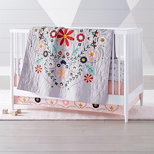 Baja Garden Crib Bedding Crate And Barrel