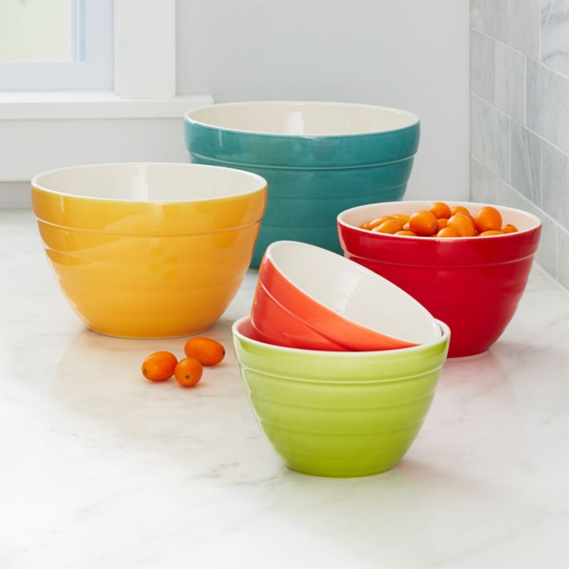 Aqua Baker Nesting Bowls Set Of 5 Reviews Crate And