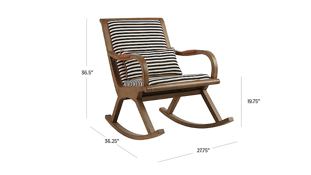 Bakersfield Black And White Rocking Chair In Rocking