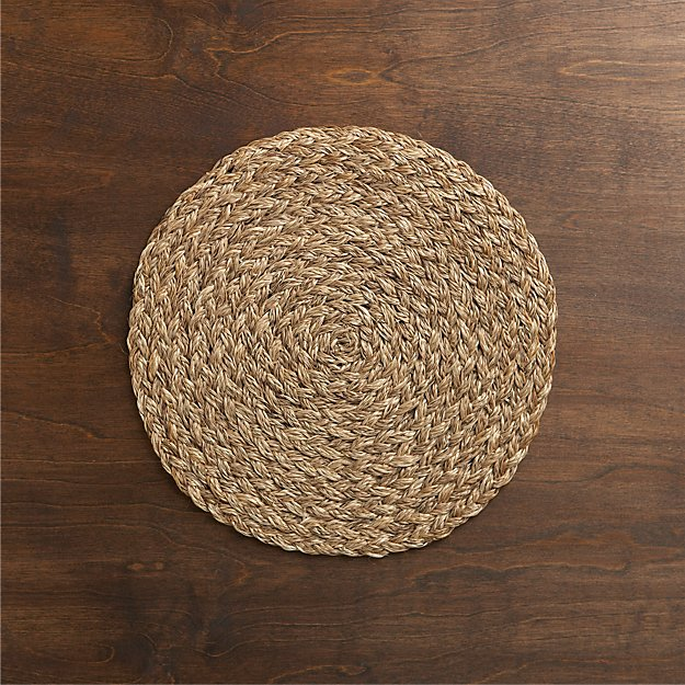 Bali Dark Woven Round Placemat Reviews Crate And Barrel