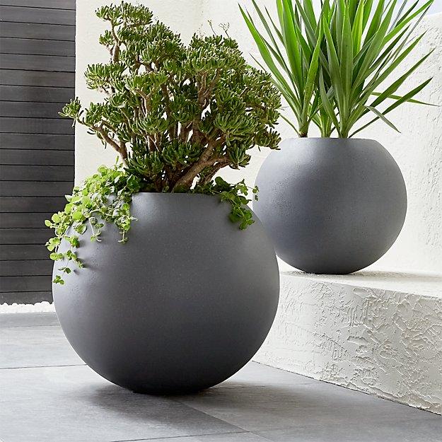 Grey Ball Planters