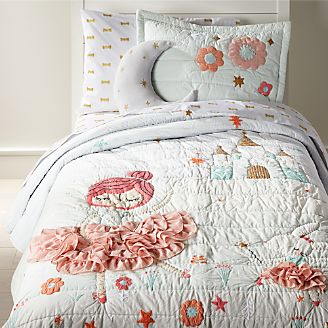 Girls Bedding Sheets Duvets Amp Pillows Crate And Barrel