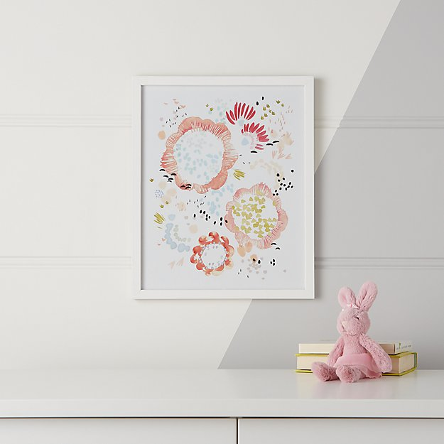 Ballet Floral Framed Wall Art + Reviews | Crate and Barrel