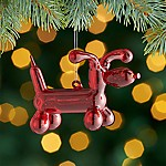 Red Balloon Dog Ornament