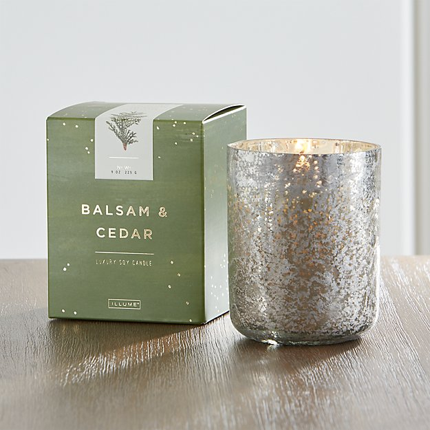 Balsam and Cedar Scented Mercury Glass Candle - Image 1 of 9