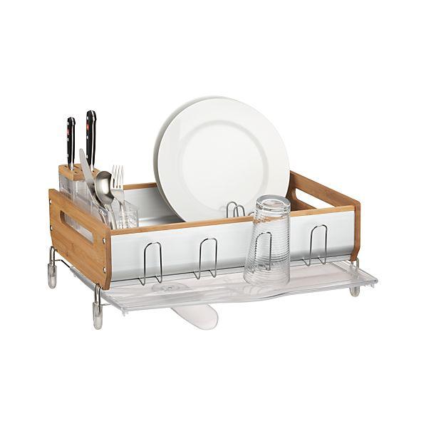 simplehuman ® Bamboo Frame Dish Rack