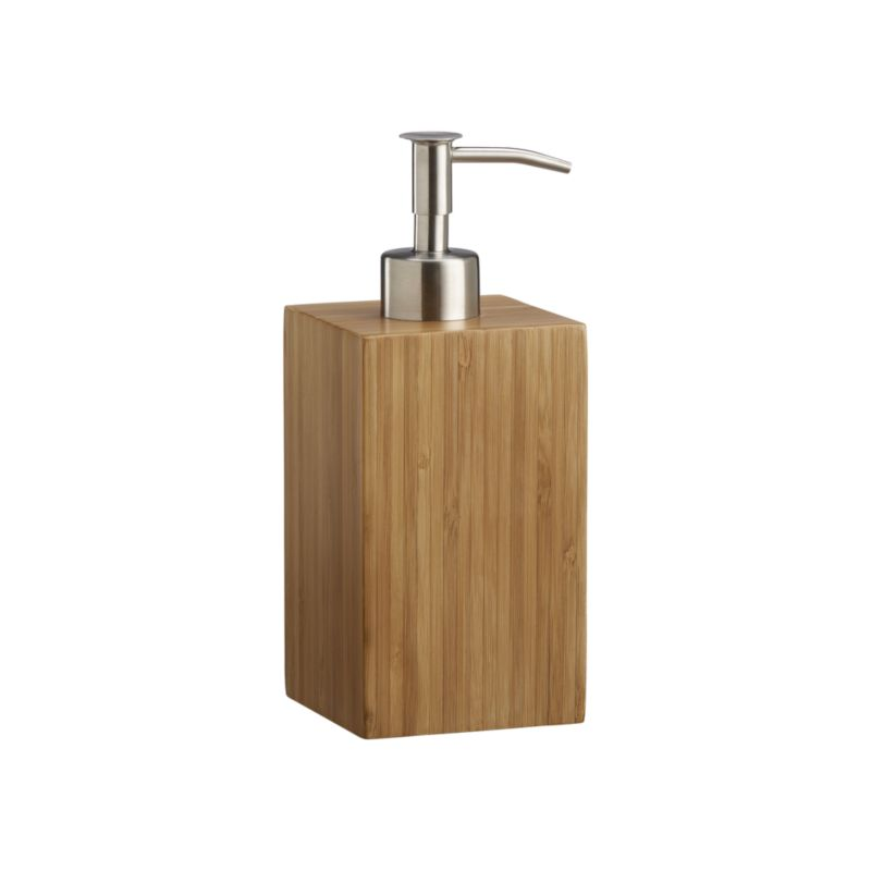 Intricately pieced, eco-friendly bamboo glows with a warm, natural finish. Each richly grained accessory is beautifully crafted with clean, classic lines. Soap pump conceals a 9-oz. plastic bottle and is accented with rustproof zinc.<br /><br /><NEWTAG/><ul><li>Renewable bamboo</li><li>Natural finish</li><li>Hand wash</li><li>Made in China</li></ul>