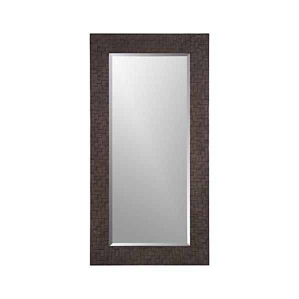 Bamboo Weave Floor Mirror