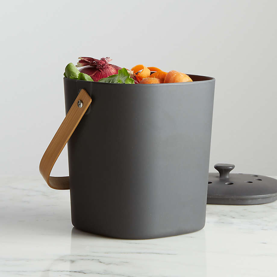 Bamboozle Graphite Composter + Reviews   Crate and Barrel