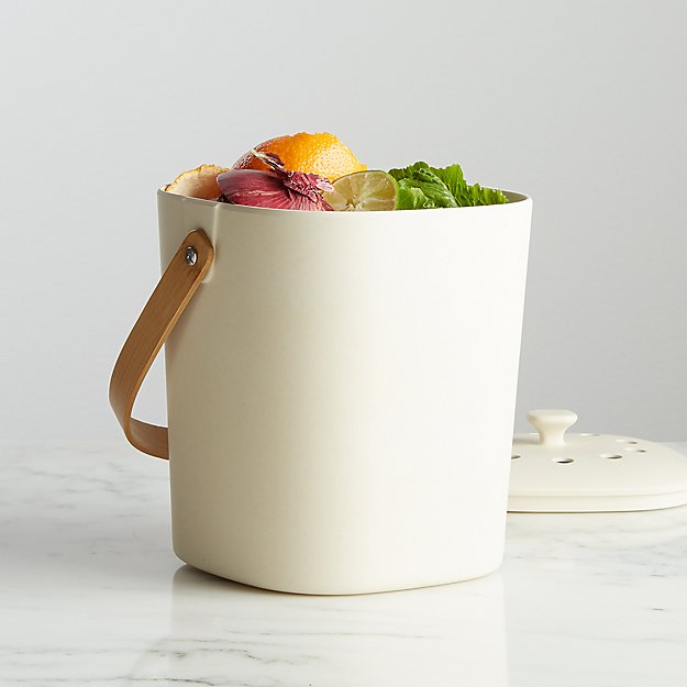 Bamboozle White Composter - Image 1 of 4
