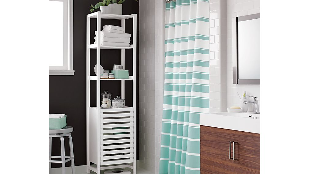white bathroom storage tower banya white bath tower crate and barrel 21452
