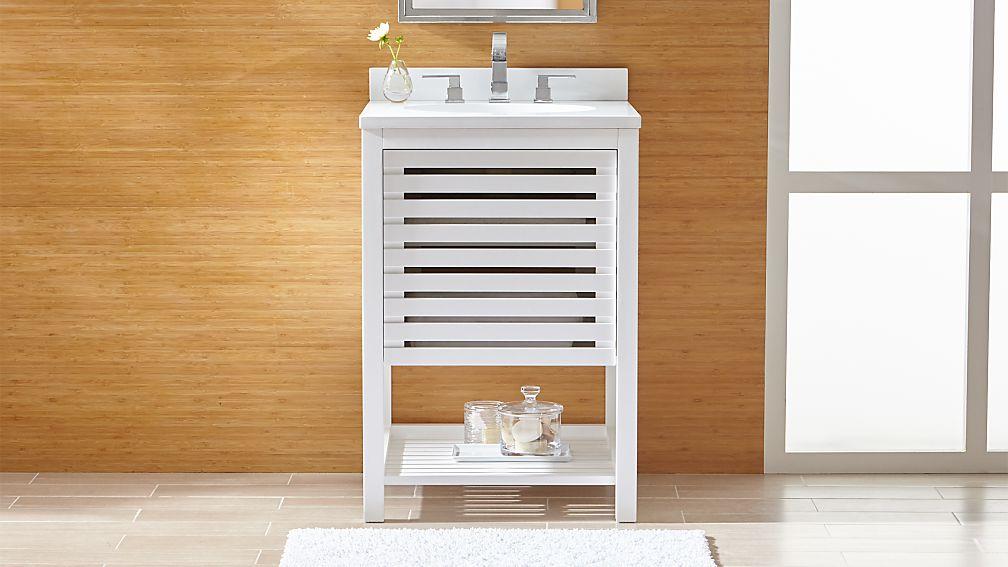Banya Powder Room Vanity Set in Bathroom Furniture + Reviews | Crate ...