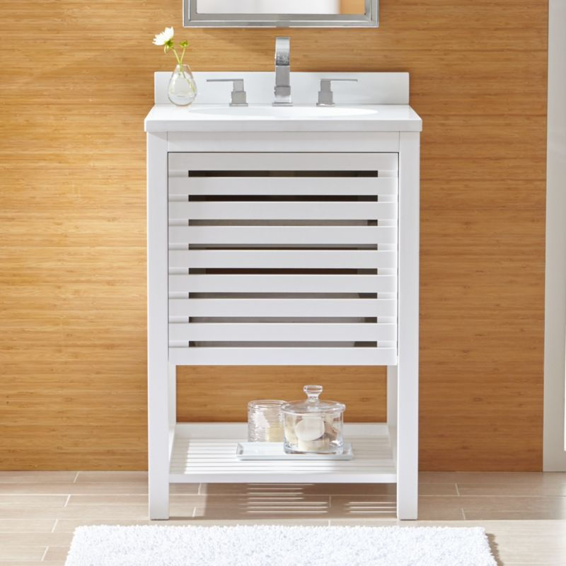 Powder Room Vanity britta powder room vanity | crate and barrel