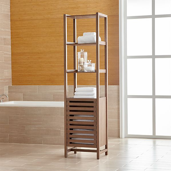 Banya Smoked Oak Tower