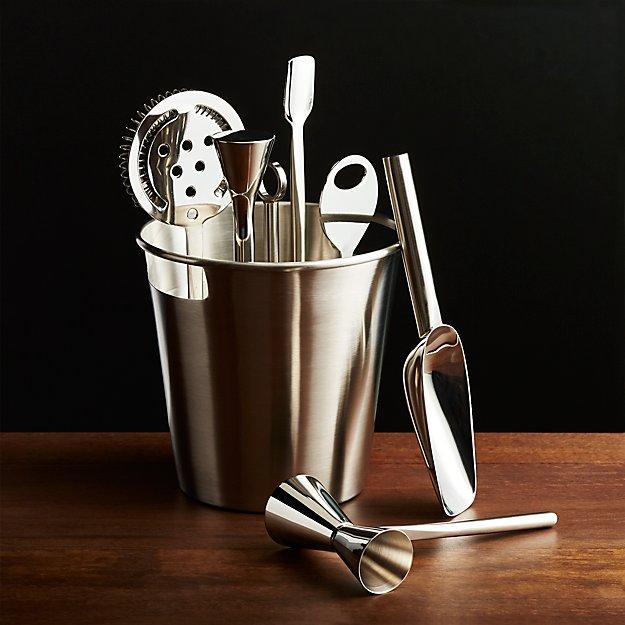 Bar Tool Set Silver Crate And Barrel