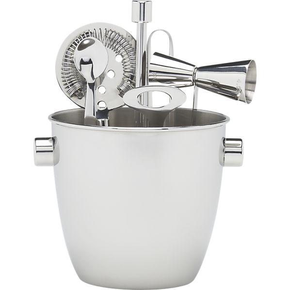 Bar Tool and Ice Bucket Set