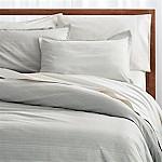 Barcelos King Green Striped Duvet Cover