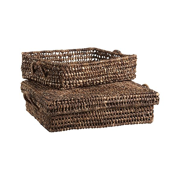 Set of 2 Barika Large Low Storage Totes
