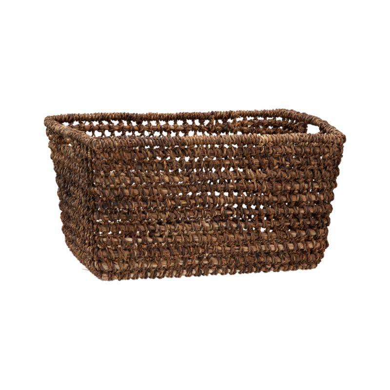 Handcrafted tote of durable, renewable bacbac leaves neatly stashes household clutter, leaving behind rustic good looks.<br /><br /><NEWTAG/><ul><li>100% bacbac leaves</li><li>Cutout handles</li><li>Indoor use only</li><li>Wipe with dry cloth</li><li>Made in The Philippines</li></ul>