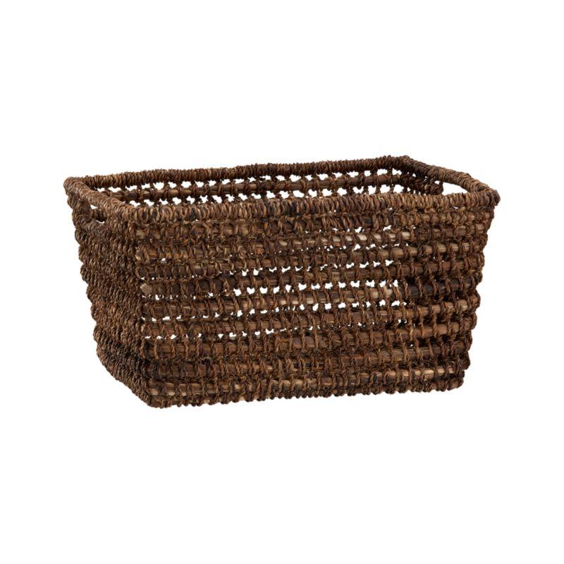 Handcrafted tote of durable, renewable bacbac leaves neatly stash household clutter, leaving behind rustic good looks.<br /><br /><NEWTAG/><ul><li>100% bacbac leaves</li><li>Cutout handles</li><li>Indoor use only</li><li>Wipe with dry cloth</li><li>Made in The Philippines</li></ul>
