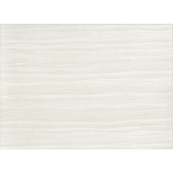 Bark White Placemat