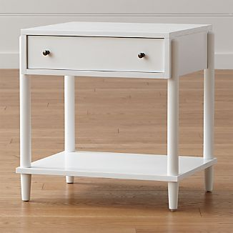 Barnes White Nightstand